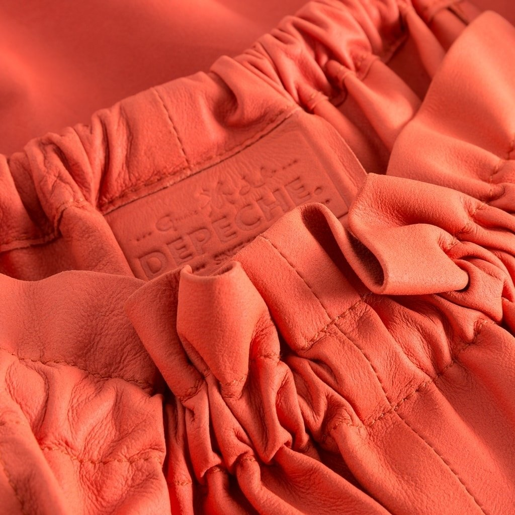 Depeche skind top coral detail1