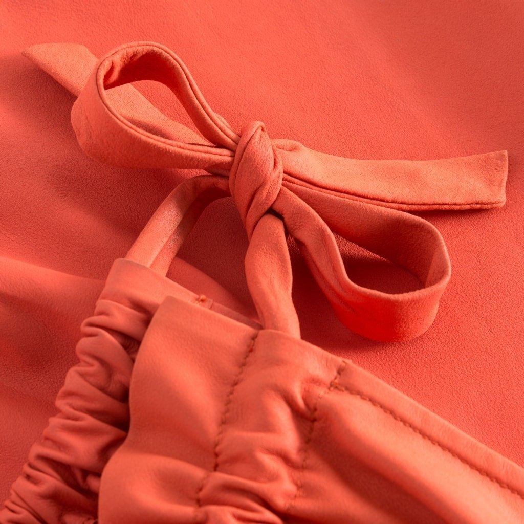 Depeche skind top coral detail2