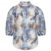 Puff Shirt Blue Flower
