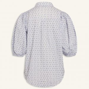 Love and Divine puff shirt broderi anglaise hvid blå b