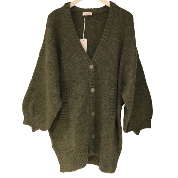 Cotton Candy Pearly cardigan olive