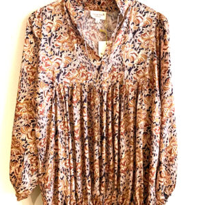 Eva Go Diva Courtney Block Print Beige