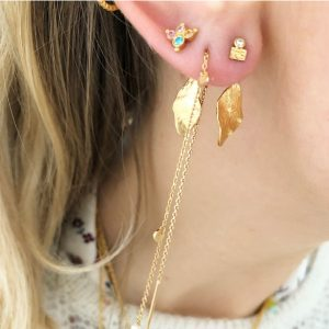 Tres Petit La Mer Earring With Stone Gold d
