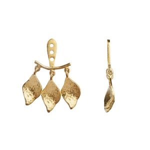 Stine A Dancing Three Ile De L'Amour Behind Ear Earring Gold
