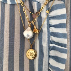 Big Chunky Pendant Chain Gold d