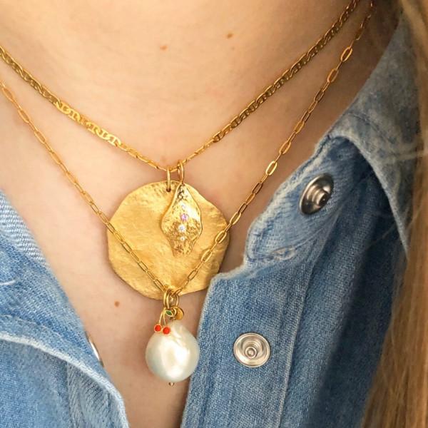 Petit Chunky Pendant Chain Gold 1
