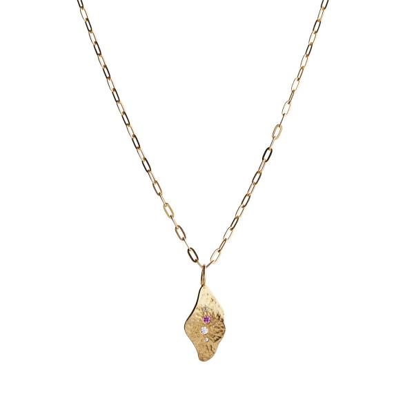 Ile De L'Amour Pendant with Stones Gold 1