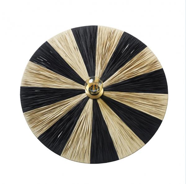 Jore Copenhagen Dott Stripes Black & nature, væglampe d