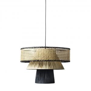 Triple Cane Black & nature, loftlampe d