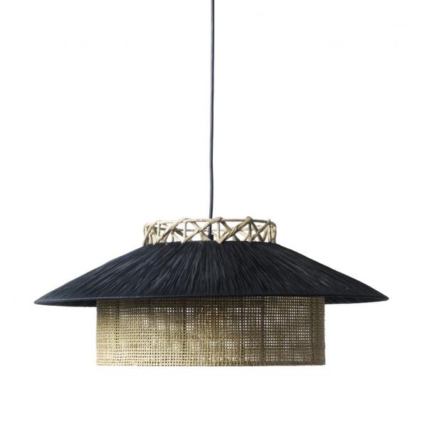 Kyoto Pendant | Black & nature, loftlampe d
