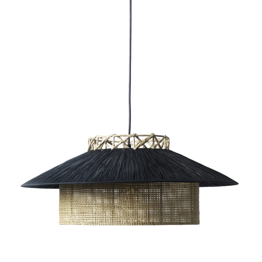 Kyoto Pendant | Black & nature, loftlampe d