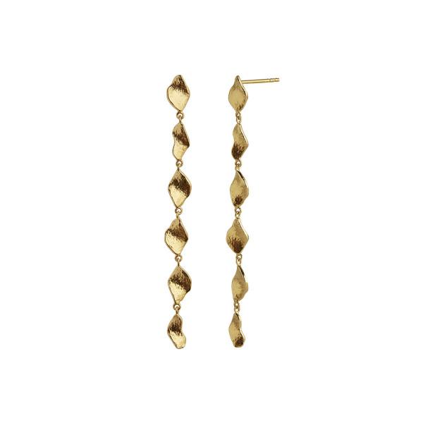 Six Dangling Ile De L'Amour Long Earring Gold